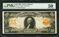 Large Size:Gold Certificates, Fr. 1183 $20 1906 Gold Certificate PMG About Uncirculated 50.. ...