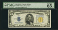 Small Size:World War II Emergency Notes, Fr. 2307 $5 1934A North Africa Silver Certificate. PMG GemUncirculated 65 EPQ.. ...