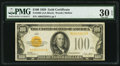 Small Size:Gold Certificates, Fr. 2405 $100 1928 Gold Certificate. PMG Very Fine 30 EPQ.. ...