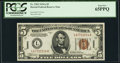 Small Size:World War II Emergency Notes, Fr. 2302 $5 1934A Hawaii Federal Reserve Note. PCGS Gem New 65PPQ.....