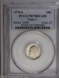 Proof Roosevelt Dimes: , 1979-S 10C Type One PR70 Deep Cameo PCGS. Pop: (P 125/0, N 3/0).Numismedia Wsl. Price: $200....