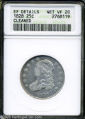 Bust Quarters: , 1828 25C--Cleaned--ANACS. XF Details, Net VF20....