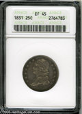 Bust Quarters: , 1831 25C Small Letters XF45 ANACS....