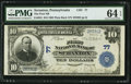 National Bank Notes:Pennsylvania, Scranton, PA - $10 1902 Plain Back Fr. 624 The First NB Ch. # 77....
