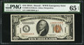 Small Size:World War II Emergency Notes, Fr. 2303 $10 1934A Hawaii Federal Reserve Note. PMG GemUncirculated 65 EPQ.. ...