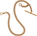 Timepieces:Watch Chains & Fobs, Antique 14k Gold Watch Chain, 44.5 Grams. ...