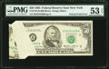 Error Notes:Foldovers, Fr. 2122-B $50 1985 Federal Reserve Note. PMG About Uncirculated 53EPQ.. ...