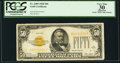 Small Size:Gold Certificates, Fr. 2404 $50 1928 Gold Certificate. PCGS Apparent Very Fine 30.. ...