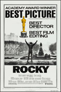 "Movie Posters:Academy Award Winners, Rocky (United Artists, 1977). One Sheet (27"" X 41"") Academy Award Style B. Sports.. ..."