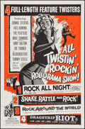 "Movie Posters:Rock and Roll, All Twistin' Rockin' Rollorama Show (American International,R-1961). One Sheet (27"" X 41""). Rock and Roll.. ..."