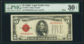 Small Size:Legal Tender Notes, Fr. 1530 $5 1928E Mule Legal Tender Note. PMG Very Fine 30 EPQ.. ...