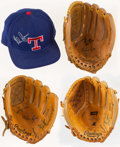 Autographs:Others, Nolan Ryan Signed Gloves Lot of 3 and One Signed Hat....