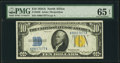 Small Size:World War II Emergency Notes, Fr. 2309 $10 1934A North Africa Silver Certificate. PMG Ge...