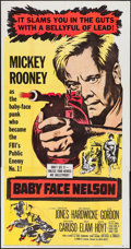 "Movie Posters:Crime, Baby Face Nelson (United Artists, 1957). Flat Folded Three Sheet(41"" X 79""). Crime.. ..."