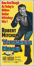 "Movie Posters:Crime, Thunder Road (United Artists, 1958). Flat Folded Three Sheet (41"" X81""). Crime.. ..."