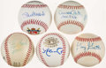 Autographs:Baseballs, St. Louis Cardinals Greats Single Signed Baseballs Lot of 5. ...