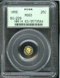 California Fractional Gold: , 1856 25C Liberty Round 25 Cents, BG-229, R.4, MS63 PCGS. Pop: (P27/9, N 0/0)....