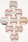Autographs:Baseballs, St. Louis Cardinals Greats Single Signed Baseballs Lot of 9....