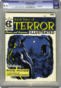 Magazines:Horror, Terror Illustrated #1 Gaines File pedigree 9/12 (EC, 1955) CGC NM 9.4 Cream to off-white pages. One of EC's ways of avoiding...