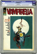 "Magazines:Horror, Vampirella #3 (Warren, 1970) CGC NM- 9.2 Off-white pages. ""Vampi's Scarlet Letters"" page begins in this issue. Cover by Larr..."