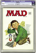 "Magazines:Mad, Mad #110 (EC, 1967) CGC NM+ 9.6 Off-white to white pages. ""Yellow Pages for Super-Heroes"" article. Norman Mingo cover. Mort ..."