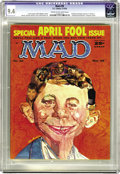 Magazines:Mad, Mad #39 (EC, 1958) CGC NM 9.4 Cream to off-white pages. From LouisArmstrong hair to an Elvis ear, Alfred E. Neuman's portra...