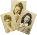 Movie/TV Memorabilia:Photos, Ava Gardner Teenage Photos. A set of b&w snapshots of Gardnertaken when she was roughly 16 years old, flaunting the good lo...