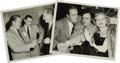 "Movie/TV Memorabilia:Photos, Frank Sinatra with Bob Hope Photos. A pair of great b&w 8"" x10"" photos of Sinatra and Hope hanging out together, including ..."