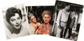 "Movie/TV Memorabilia:Photos, Ava Gardner Photos with Elizabeth Taylor and Richard Burton. Thisset of three large photos includes a color 11"" x 14"" still..."