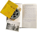 "Movie/TV Memorabilia:Memorabilia, Emile LaVigne Diary, 8mm Film, and Photo from ""Land of thePharoahs"" Production. ""Her Blood Stained Every Stone of thePyram..."