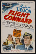 "Movie Posters:War, Flight Command (MGM, 1940). One Sheet (27"" X 41"") Style D. War.Starring Robert Taylor, Ruth Hussey, Walter Pidgeon, Paul Ke..."