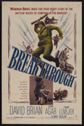 "Movie Posters:War, Breakthrough (Warner Brothers, 1950). One Sheet (27"" X 41""). War. Starring David Brian, Frank Lovejoy, John Agar and Paul Pi..."