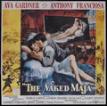 "Movie Posters:Romance, The Naked Maja (United Artists, 1959). Six Sheet (81"" X 81""). Romance. Starring Ava Gardner, Anthony Franciosa, Amedeo Nazza..."