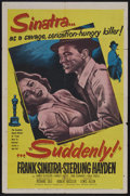 "Movie Posters:Crime, Suddenly (United Artists, 1954). One Sheet (27"" X 41""). Crime. Starring Frank Sinatra, Sterling Hayden, James Gleason and Na..."