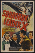 """Movie Posters:Action, Squadron Leader X (RKO, 1943). One Sheet (27"""" X 41"""") Style A. Action. Starring Eric Portman, Ann Dvorak, Walter Fitzgerald, ..."""