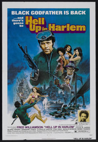 "Hell Up in Harlem (AIP, 1973). One Sheet (27"" X 41""). Action. Starring Fred Williamson, Tony King, D'Urville M..."