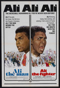 "Movie Posters:Documentary, Ali The Man: Ali The Fighter (CineAmerica Releases, 1975). One Sheet (27"" X 41""). Sports Documentary. Starring Joe Frazier, ..."
