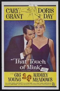 "That Touch of Mink (Universal, 1962). One Sheet (27"" X 41""). Romantic Comedy. Starring Cary Grant, Doris Day..."