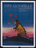 "Movie Posters:Science Fiction, Son of Godzilla (Toho, 1967). Polish Poster (22.5"" X 31.5"").Science Fiction. Starring Tadao Takashima, Bibari Maeda and Aki..."