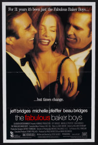 "The Fabulous Baker Boys (20th Century Fox, 1989). One Sheet (27"" X 41"") Double Sided. Romance. Starring Jeff B..."