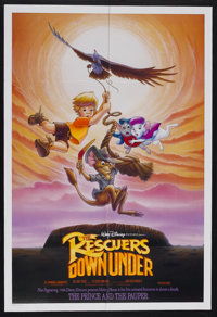 "The Rescuers Down Under (Buena Vista, 1990). One Sheet (27"" X 41"") Double Sided. Animated Adventure. Starring..."