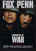 "Movie Posters:War, Casualties of War (Columbia, 1989). One Sheet (27"" X 41""). War.Starring Michael J. Fox, Sean Penn, Don Harvey, John C. Reil..."