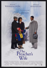 "The Preacher's Wife (Buena Vista, 1996). One Sheet (27"" X 41"") Double Sided. Comedy. Starring Denzel Washingto..."