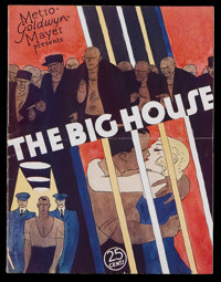 The Big House (MGM, 1930). Program (Multiple Pages). Prison Drama. Starring Chester Morris, Wallace Beery, Robert Montgo...