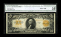 Large Size:Gold Certificates, Fr. 1187 $20 1922 Gold Certificate CGA Very Fine 35. A middle grade Gold Certificate with its grade attested to by CGA....