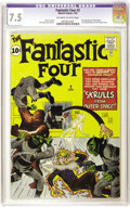 Silver Age (1956-1969):Superhero, Fantastic Four #2 (Marvel, 1962) CGC VF- 7.5 Off-white to whitepages....