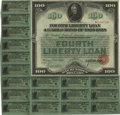 Fourth Liberty Loan 4 1/4% Gold Bond This is a gorgeous Liberty Loan Bond dated October 24, 1918 with 21 coupons attache...