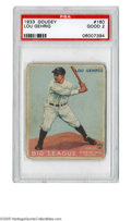 Baseball Cards:Singles (1930-1939), 1933 Goudey Lou Gehrig #160 PSA Good 2. One of the top cards fromthis Big Three set. Eye appeal is strong despite wear. ...