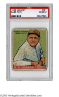 Baseball Cards:Singles (1930-1939), 1933 Goudey Babe Ruth #181 PSA Good 2. Strong representation fromthis Big Three set of the games biggest star. ...