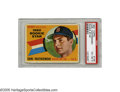 Baseball Cards:Singles (1960-1969), 1960 Topps Carl Yastrzemski #148 Rookie Star PSA VG-EX 4. Firstyear card of the Boston Red Sox slugger has strong color wit...